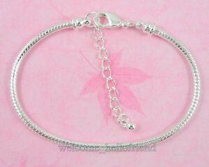 10pcs-Silver-P-Lobster-Clasp-Snake-Chain-Charm-Bracelets-Fit-European-Beads-P02