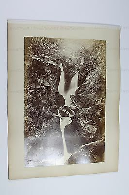 c1900 Photos to page Ambleside Waterfall Frith verso Buttermere Pettitt's