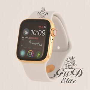 24k Gold Plated 44mm Apple Watch Series 4 White Sport Band Read Description Ebay