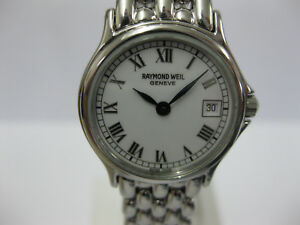 Ladies-Raymond-Weil-Stainless-Steel-Bracelet-White-Dial-5377-with-Box-1074