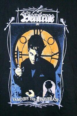 Appena Vintage Vampire The Masquerade Clan Ventrue T-shirt Xl Nero 1990's Ricco E Magnifico