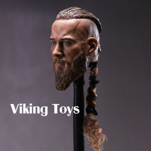 "Viking Toys Headplay Male Head Carving Military Braid 1//6 Scale Fit 12/"" Figures"