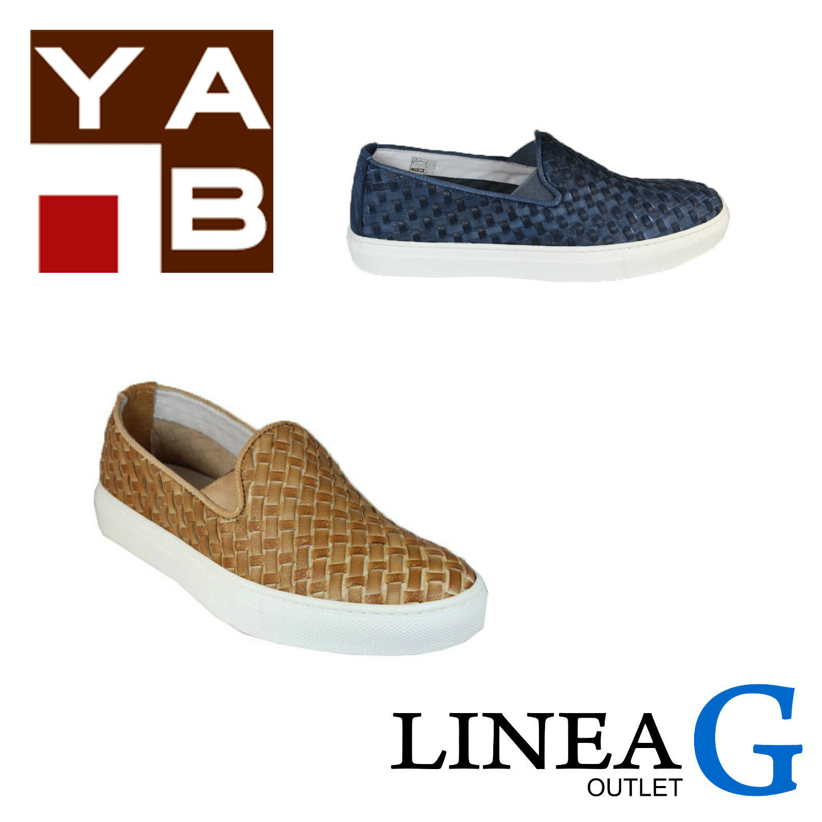 Pantofole da uomo YAB leather slip on sneakers S/S 2016 slip on in pelle intrecciata P/E 2016