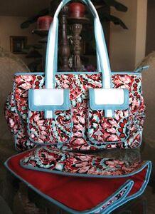 Image Is Loading Isabella Fiore Lulu Tote Diaper Bag Handbag Nwot