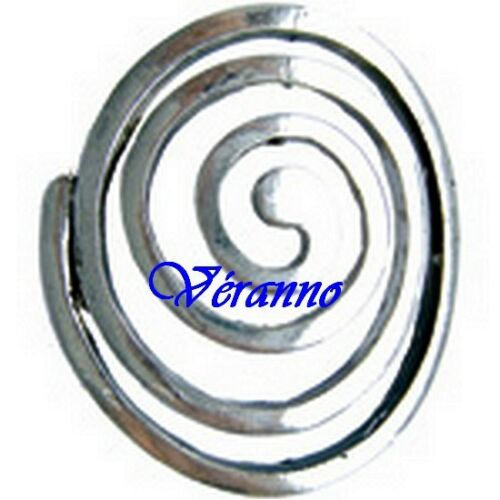 1 spirale 35x30mm métal vieil argent.
