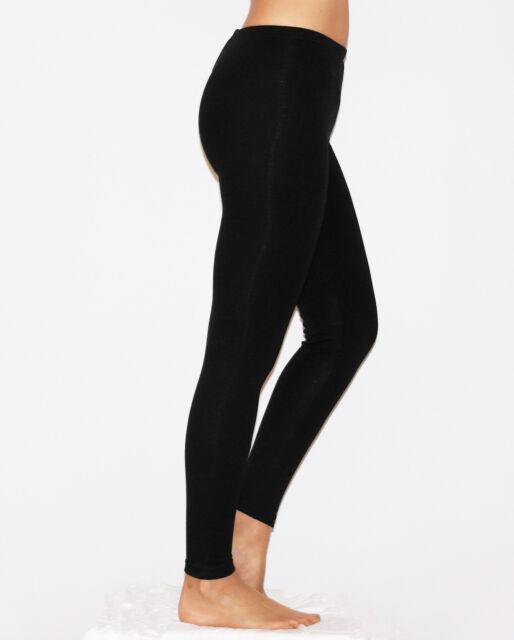 Damen lange Leggings Leggins lang blickdicht Baumwolle Hose Röre Wäsche S M L XL