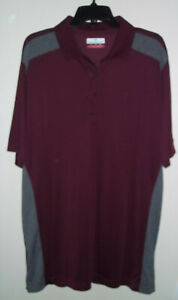 Grand-Slam-Men-039-s-Polo-Golf-Shirt-Size-Large-Tall-Maroon-and-Gray