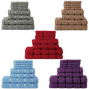 100-Pure-Cotton-Towels-Bathroom-8-pcs-Gift-Set-Bath-Face-Hand-Soft-Absorbent