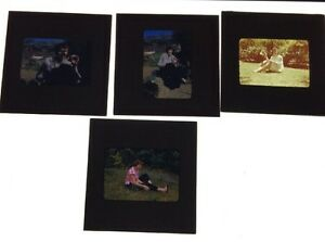 Lot-Of-7-Vintage-Color-Photo-Slides-Of-Women
