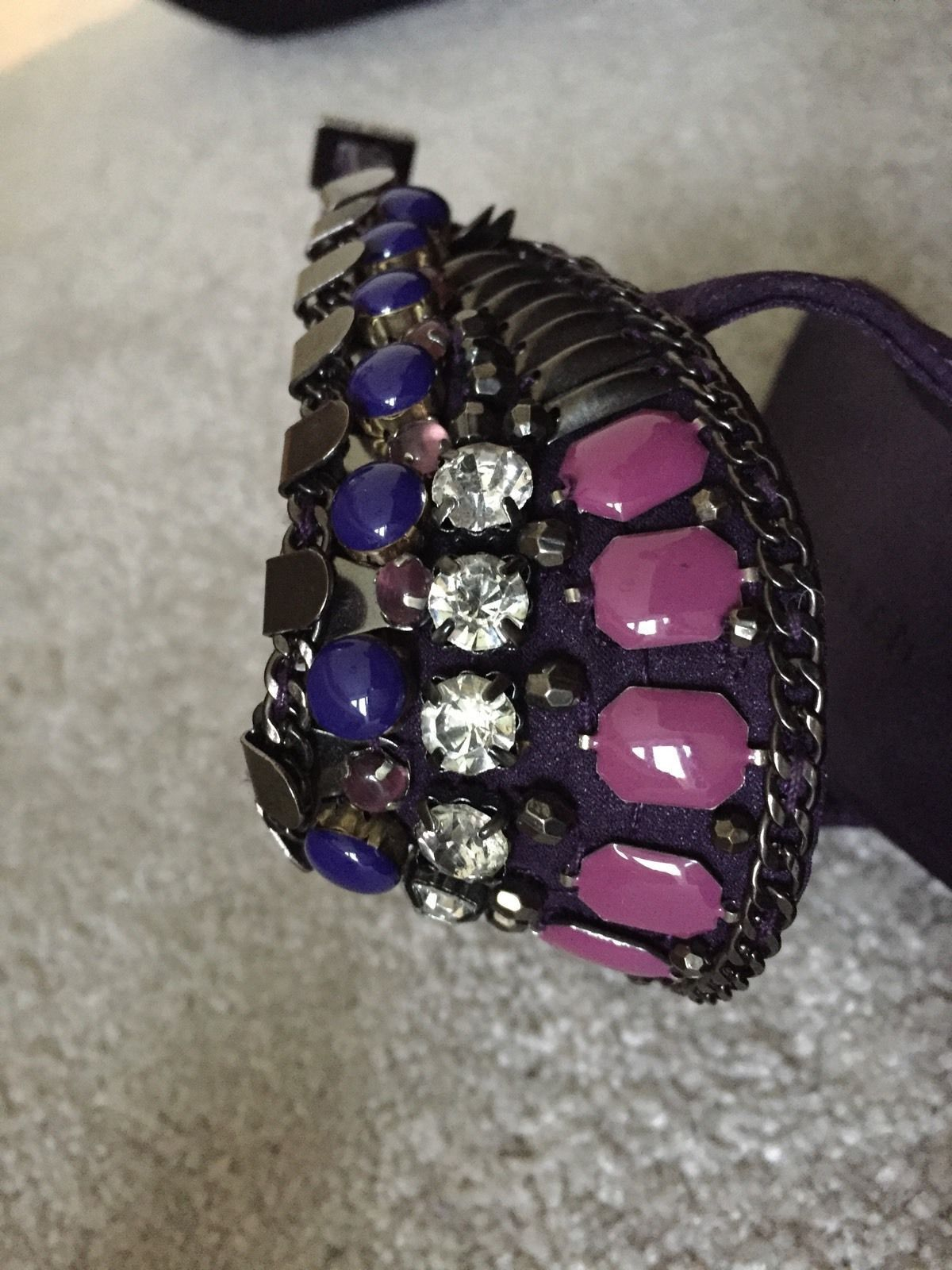 Karen Millen Tribal shoes - Purple - UK - - - Size 4 - Worn Once f2ea8c