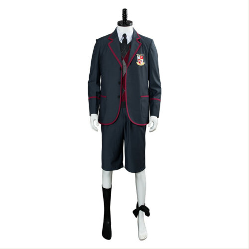 The Umbrella Academy School Uniform Cosplay Costume Halloween Full Set Kid Shoes