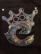 Vtg Coogi Jeans Mens Embroidered Dark Denim Color Fabric 42 X 35 Big Tall