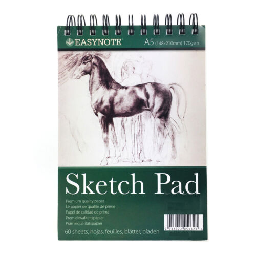 A5 Sketching Drawing Pad Art Craft Book Plain White Paper 60 Sheets Wiro Cover