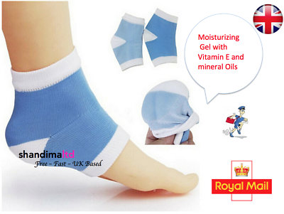 Hilfreich Moisturising Heel Fabric Gel Spa Socks Cracked Dry Heel Moisture Rich Therapy