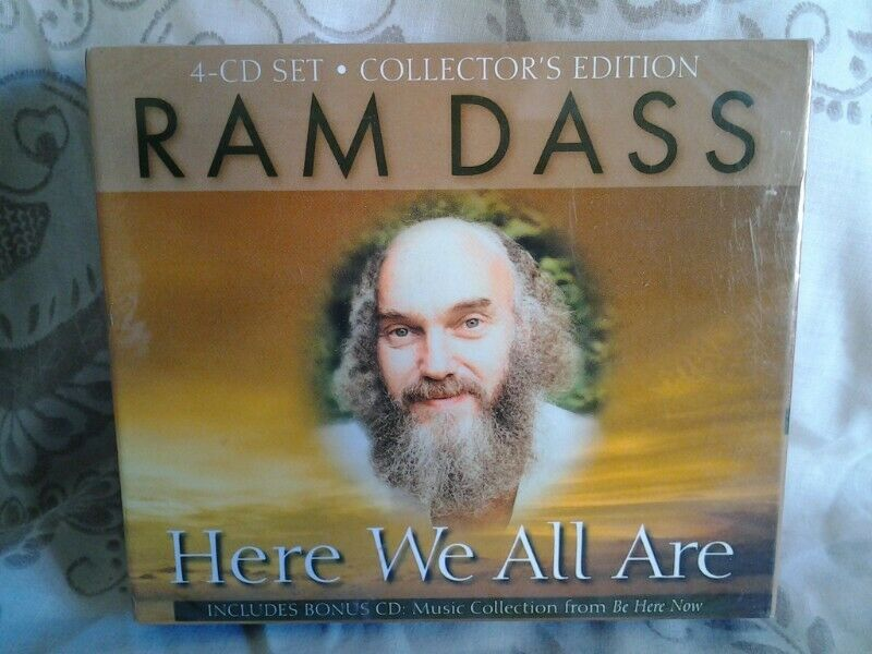 RAM DASS - HERE WE ALL ARE - INCLUDES BONUS CD FROM BE HERE NOW - 4 CD SET - COLLECTORS EDITION