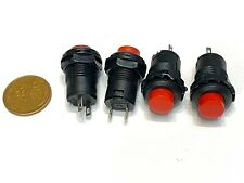 4 Pieces 12v Red Self Locking Push Button Switch Latching Onoff Ds 228 Spst C7