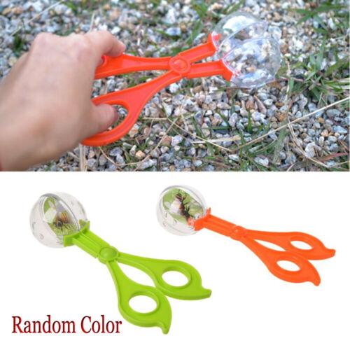 Kids Children Plastic Bug Insect Catcher Scissors Tongs Tweezers Toy Handy