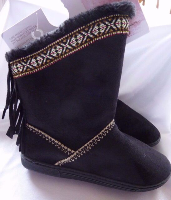 Jessica Simpson Boots Shoes BLACK Size S (5-6) Fringe Hippie Country Western NEW