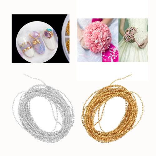 5 Meter Gold Plastic Beaded Ribbon Trim String for DIY Flower Ball Garland