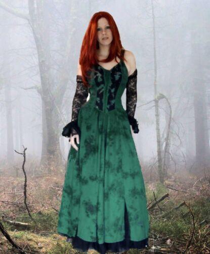 Gothic Mittelalter LARP Mieder Kleid Melinda 34 36 38 40 42 44 kl.46