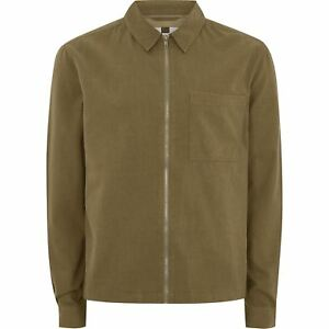 Details about New Ex Topman Mens Summer Jacket 100% Cotton Zip Through  Overshirt Khaki S-XL 3a197c5abd