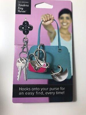 Alexx Finders Key Purse SILVER CROWN Key Finder New Purse Charm