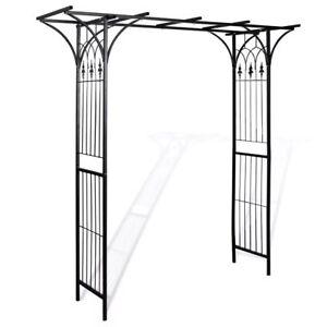 Vidaxl Arco Da Giardino Ferro Nero Per Piante Rampicanti Traliccio