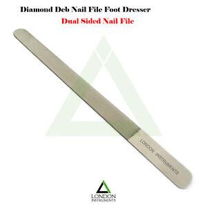 DIAMOND-DEB-NAIL-FILE-SKIN-FOOT-NAIL-DRESSER-FALSE-NAIL-TRIMMER-STAINLESS-STEEL