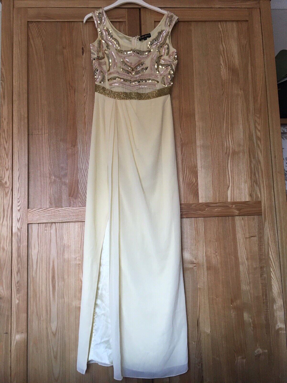 Virgos lounge Asos Gelb Sequin Dress 6 Prom Bridesmaid RRP