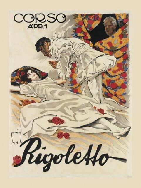Pagliacci Clown Pierrot Italian Opera Theater Vintage Poster Repro FREE S//H