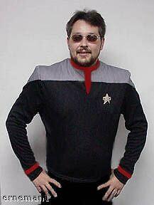 STAR TREK Uniform Movie DS9 Captain M-L ovp