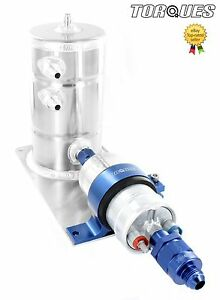 Bosch-044-Fuel-Pump-Swirl-Surge-Pot-Tank-Assembly-AN-8-Check-Valve-Output