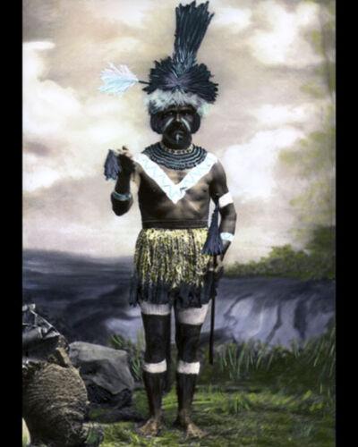"CHIEF RAFAEL SOLARES CHUMASH NATIVE AMERICAN 1878 8x10/"" HAND COLOR TINTED PHOTO"