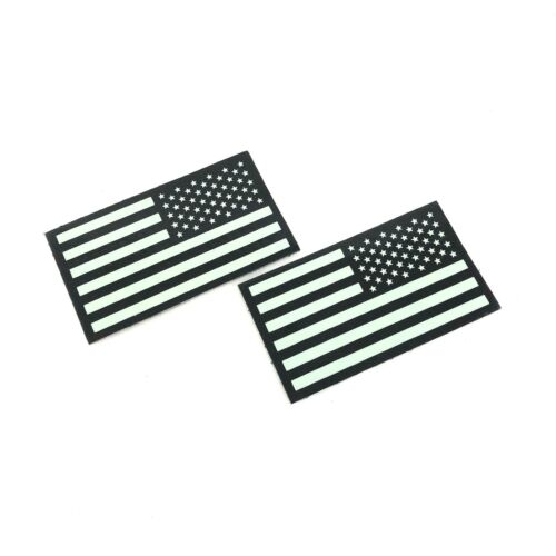 2 PACK Infrared Reverse US Flag Patch IR Army Navy Air Force SEAL VELCRO® Brand