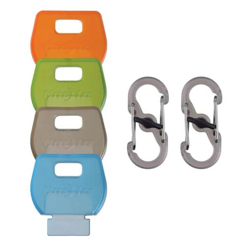 Nite Ize IdentiKey Covers Locking S-Biners Keychain Clips Assorted 4-Pack