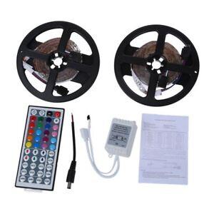 10m-2x5m-3528-SMD-600-LED-cadena-de-luz-de-tira-del-RGB-control-remoto-K9G6