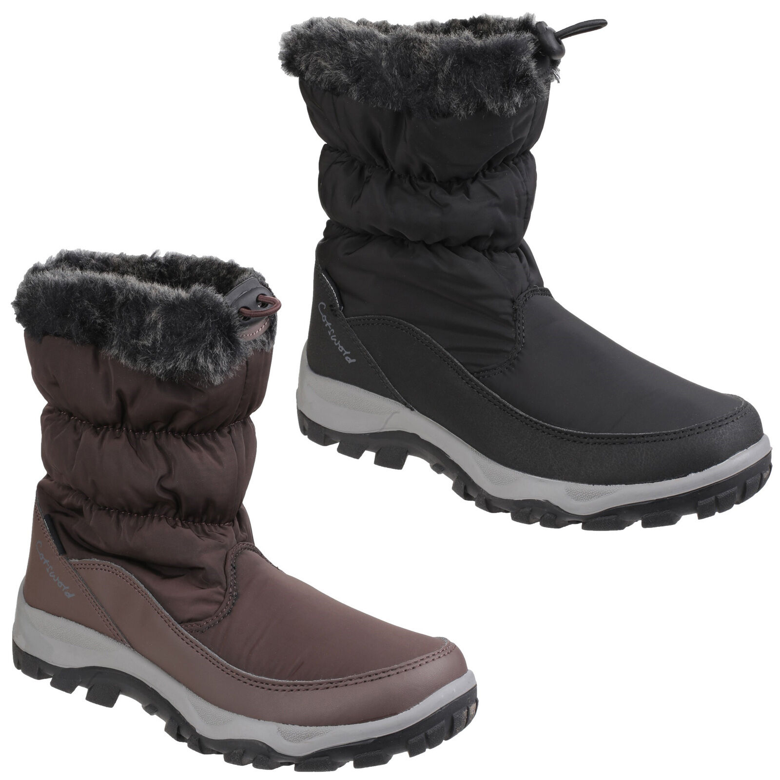 Cotswold Frost Waterproof Pull On Wellington Snow Boots UK3-8