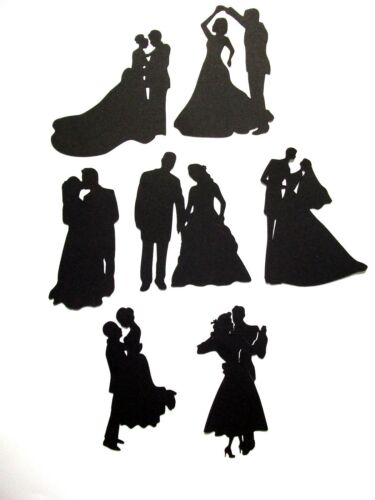 7 x Silhouette Together For Ever  Die Cuts Black