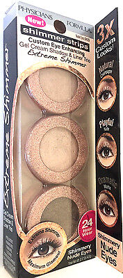 PHYSICIANS FORMULA - SHIMMER STRIPS - SHADOW AND LINER TRIO NUDE EYES 6409