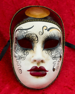 Maschera Di Venezia Pierrot IN Carta Pesta Per Carnevale - 950 - CB2