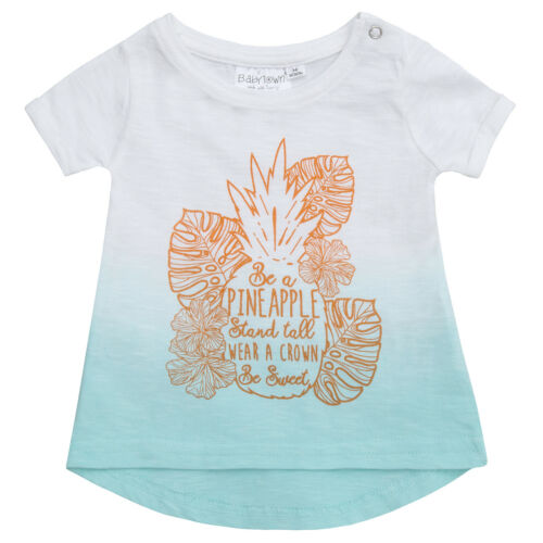 Girls Dip Dyed T-Shirt with Print