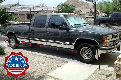 "TYGER Fits 88-98 Chevy Pickup Crew Duelie W//Fende Rocker Panel Trim 6.25/"" 12PC"