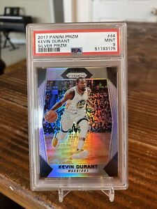 2017 Panini Prizm Kevin Durant SILVER Golden State Warriors PSA 9 MINT