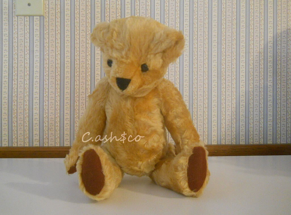 Vintage Mohair Hause of Klaus plush stuffed jointed Teddy Bear 13