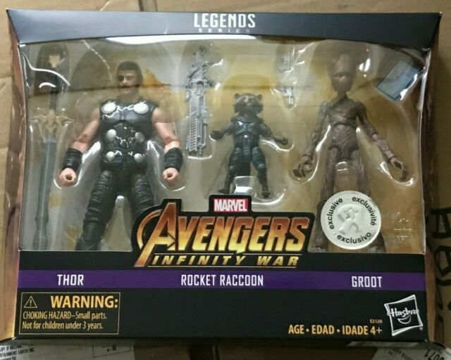 Marvel Legends MCU Avengers Infinity War Rocket Raccoon Groot Thor New Sealed