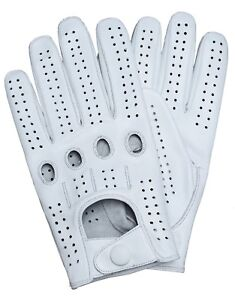 clearance prices authorized site great quality Details about Riparo Genuine Leather Full-Finger Driving Gloves - White