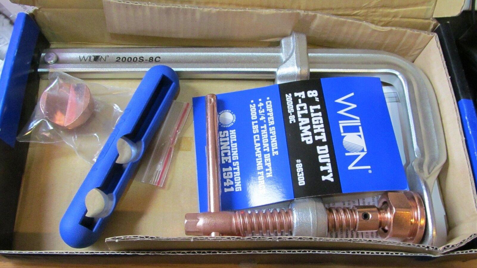 Wilton 86300 2000S-8C 8'' Light Duty F-Clamp Copper New