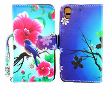 Lovely Birds Design Wallet Leather Case for HTC Desire 626 626S