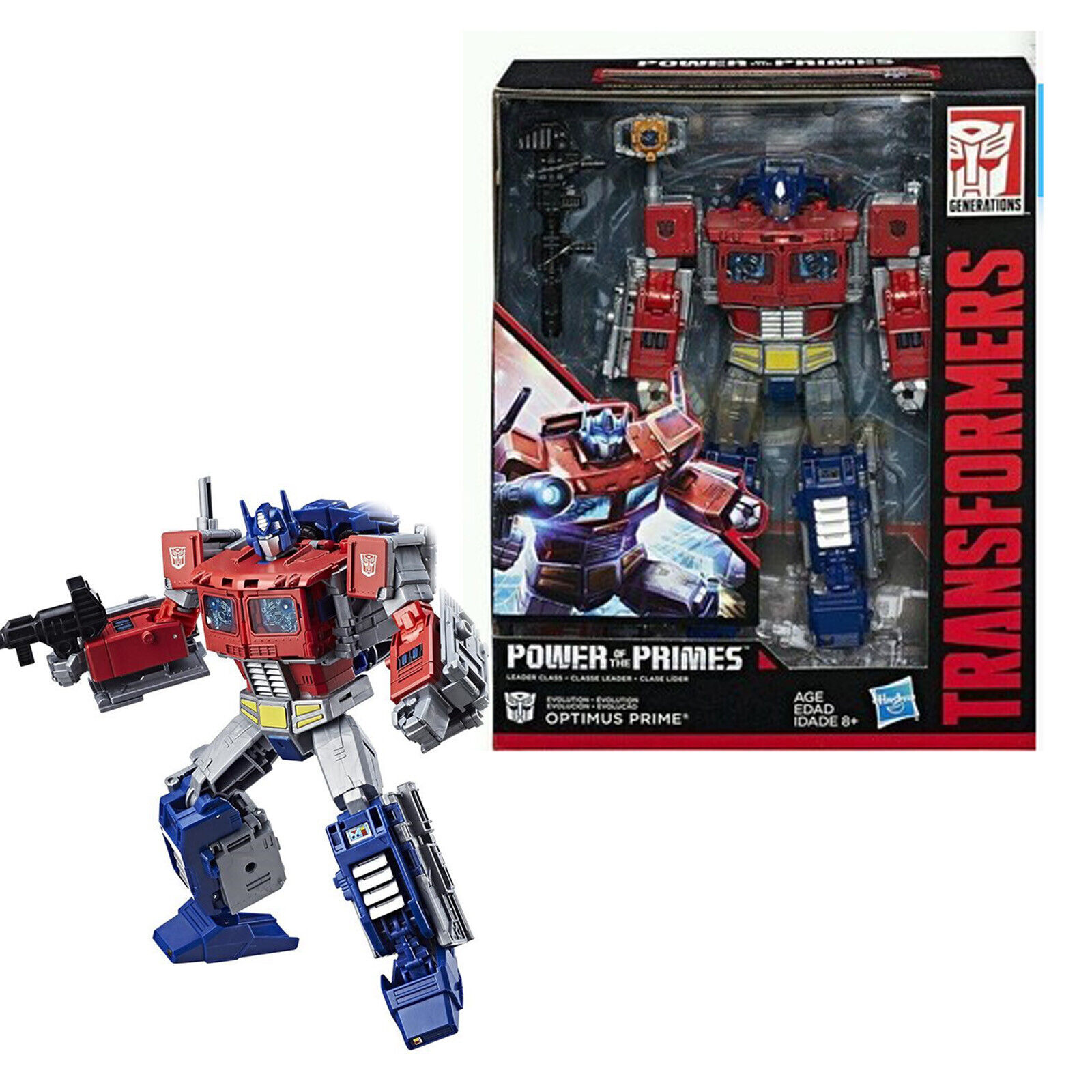 Transformers Power Of The Primes Leader Class Optimus Prime Wirkung Figure NEU