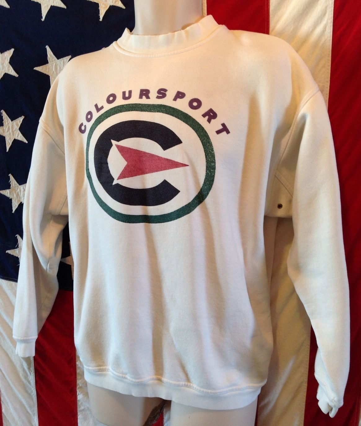 Vintage 90s Alexander Julian COLOURSPORT Sweatshirt Shirt Ski Sz XL Hip Hop Rap